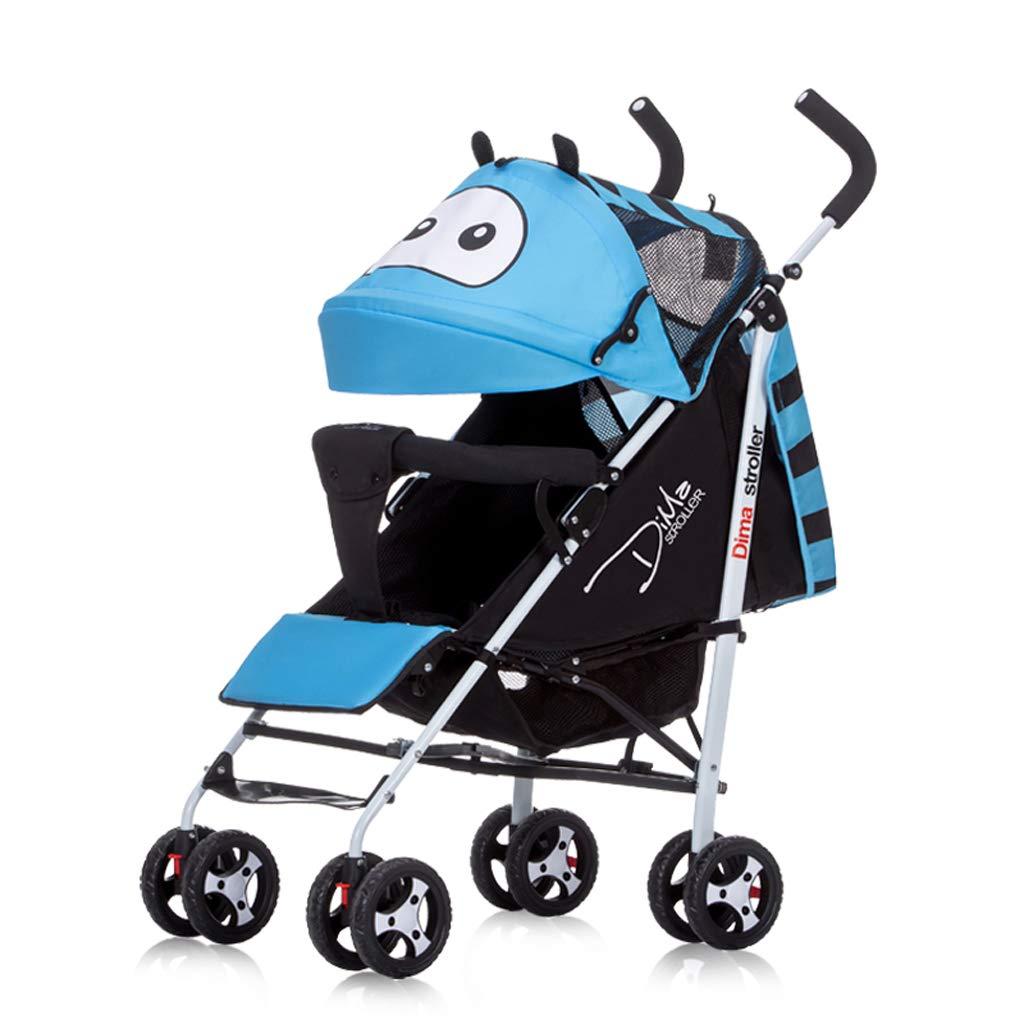 Cochecitos para niños pequeños Cute Cartoon Lightweight Amortiguadores Plegables Cómodos Asientos y Asientos para Sentarse 0-3 Years Old Girl (Color ...