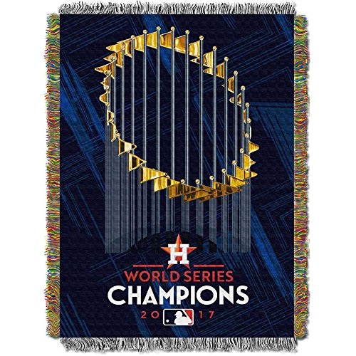 Mlb Woven Tapestry Throw - The Northwest Company Houston Astros MLB 2017 World Series Champions Woven Tapestry Throw (48