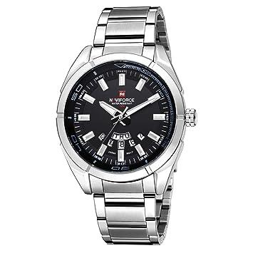 YSCYLY Relojes De Hombre Relojes De Cuarzo De Negocios 30M Relojes Impermeables De Acero Inoxidable para Hombres Fecha Automática Relojes De Pulsera ...