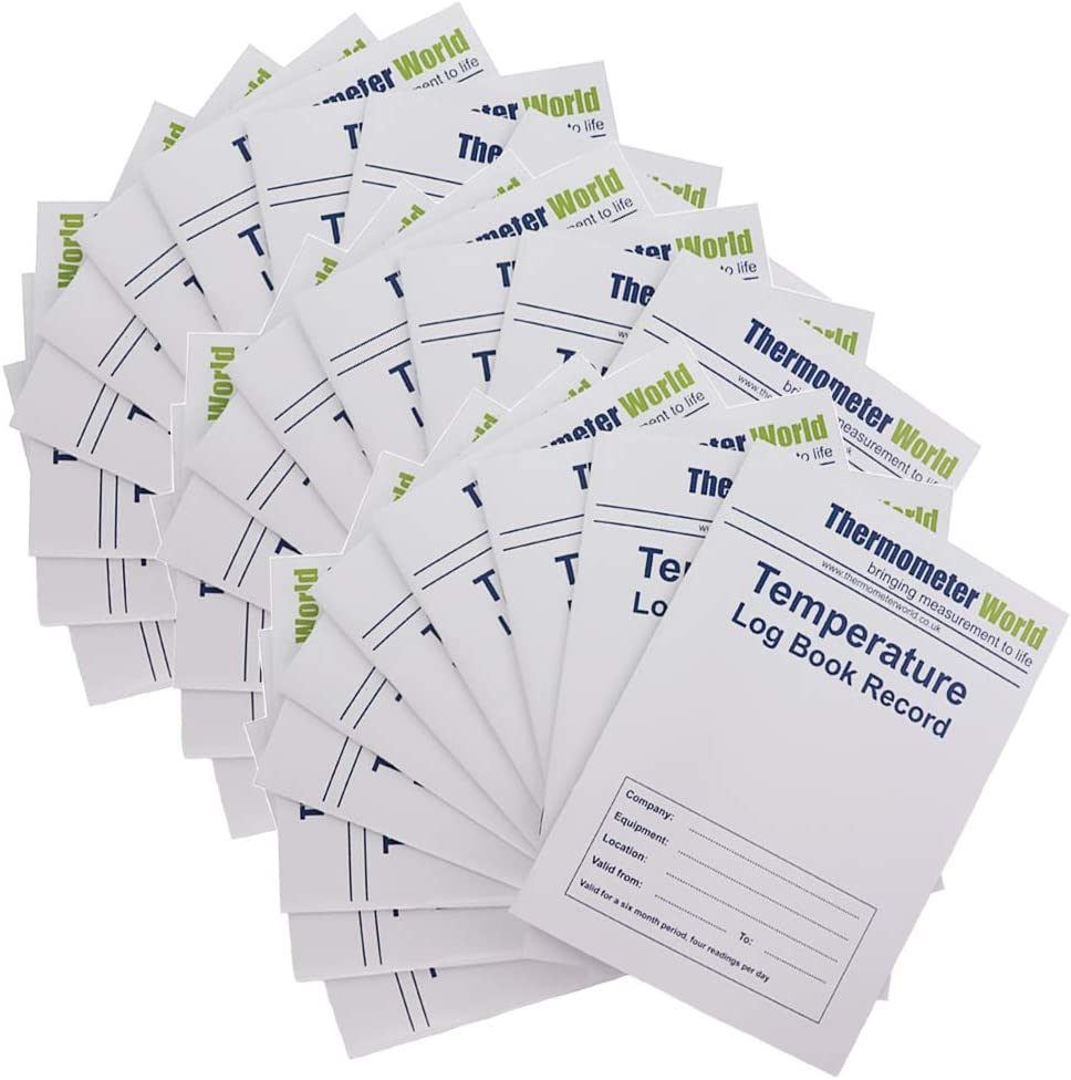 Libro de registro de temperatura para frigorífico, 30 unidades, 6 ...