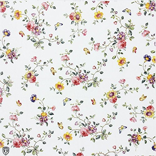 Floral Paper Napkins,Alink Spring Flower Design Vintage Luncheo Napkins Serviettes, 20 Count for Weeding, Dinner Party
