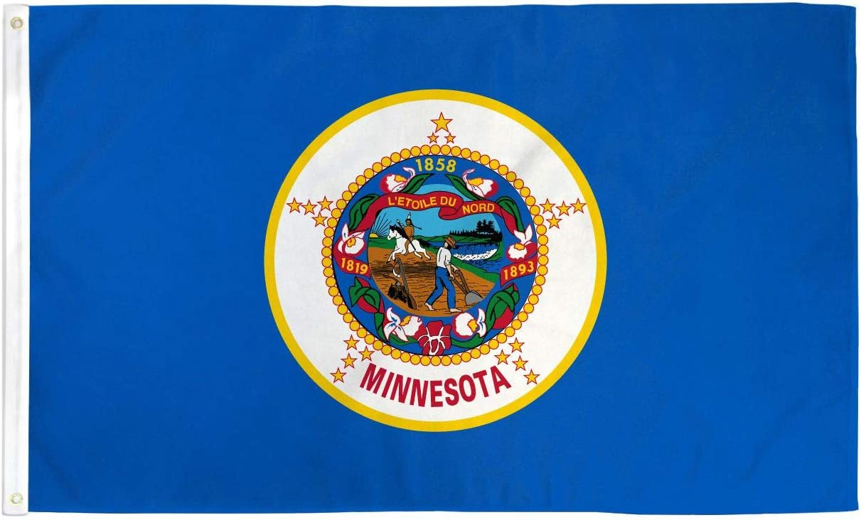 3x5 Foot Minnesota State Flag Minnesota MN Flags Polyester Fly Breeze Anley