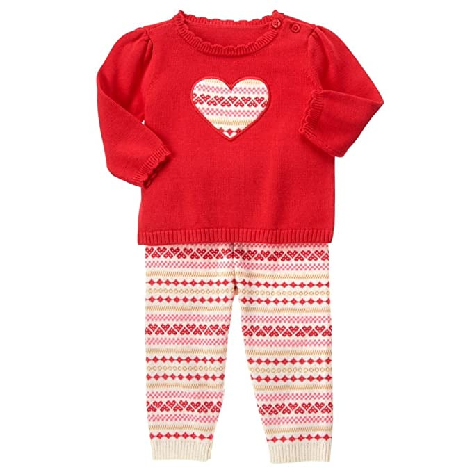 875cea0c667 Amazon.com  Gymboree Baby Red Fairisle Sweater Set