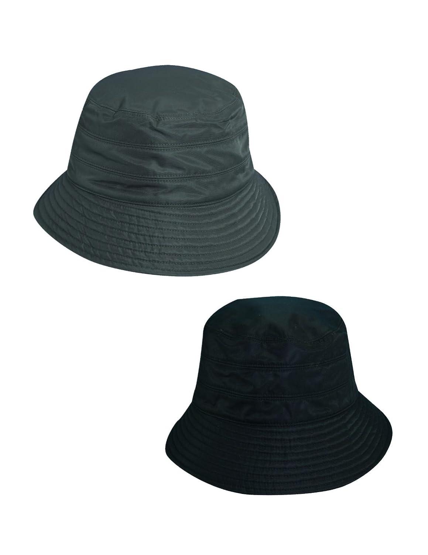 cf441676bd3 Dorfman Pacific Women's Tapered Waterproof Rain Hat (Pack of 2),  Charcoal/Black