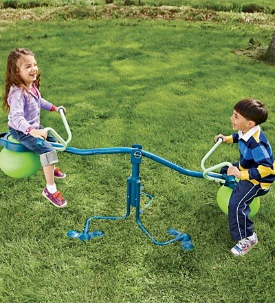 TP Activity Spiro Hop Bouncer Teeter Totter - Teeter Totter Playset That Spins 360° - Holds up to 75 lbs per Seat by TP