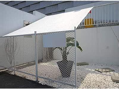 Toldo Vela Blanca Tela De Sombra 3x4m Red de Sombra con Ojales Bloque Solar Malla para Jardín Patio Toldos De Sol Lona De Tela Resistente UV Lona Invernaderos Sombra Toldo Césped Al
