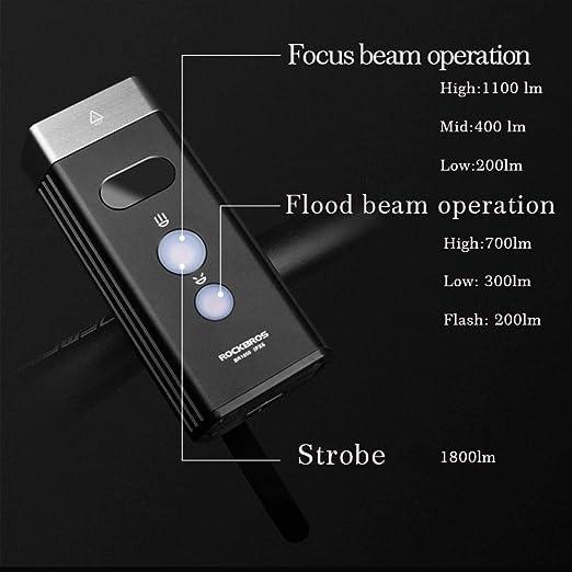 Luz Moto Luces de la Bicicleta 3 LED USB Recargable Linterna de la ...