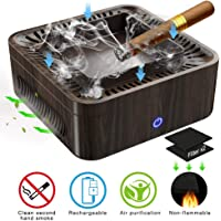 BUCCAL Multifunctional Ashtray Air Purifier High Air Volume Dust Free Smoking High Performance Activated Carbon Filter to Clean Secondhand Smoke USB Charging Protect Family Health for Home Office Car
