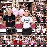 MOHOLL Sister Best Friends T Shirt for Women