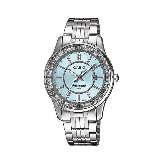 Casio Reloj Analógico para Mujer de Cuarzo con Correa en Acero Inoxidable LTP-1358D-