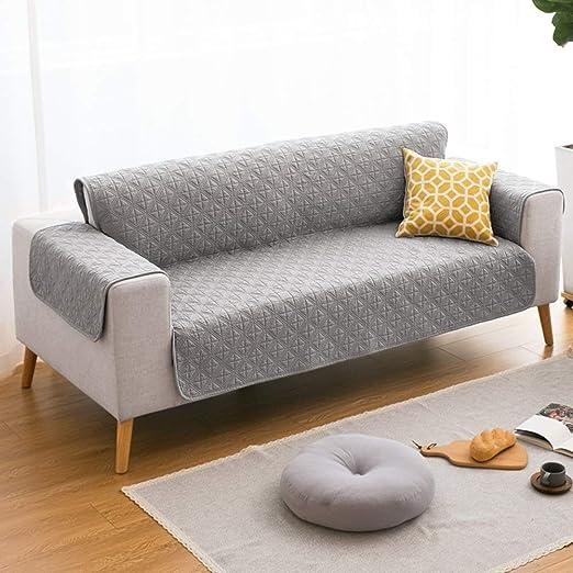 ZHENYUE Cubierta de sofá algodón Reversible 1-Pieza densa ...