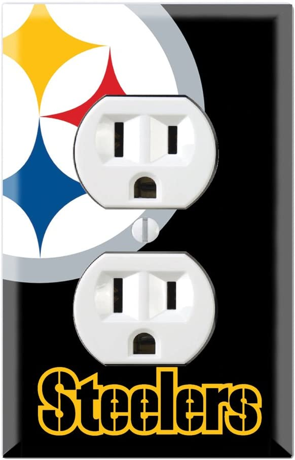 Duplex Wall Outlet Plate Decor Wallplate - Steelers