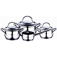 Bergner Gourmet 7piece Stainless Steel Cookware Set, Induction, Silver