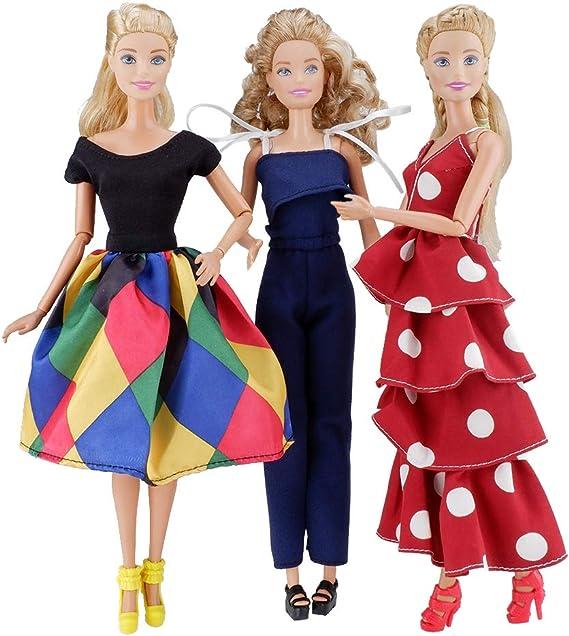 Pack Kleidungsstück Set Kleid Rock Top Prinzessin Kleid Für 29 cm 5 Satz