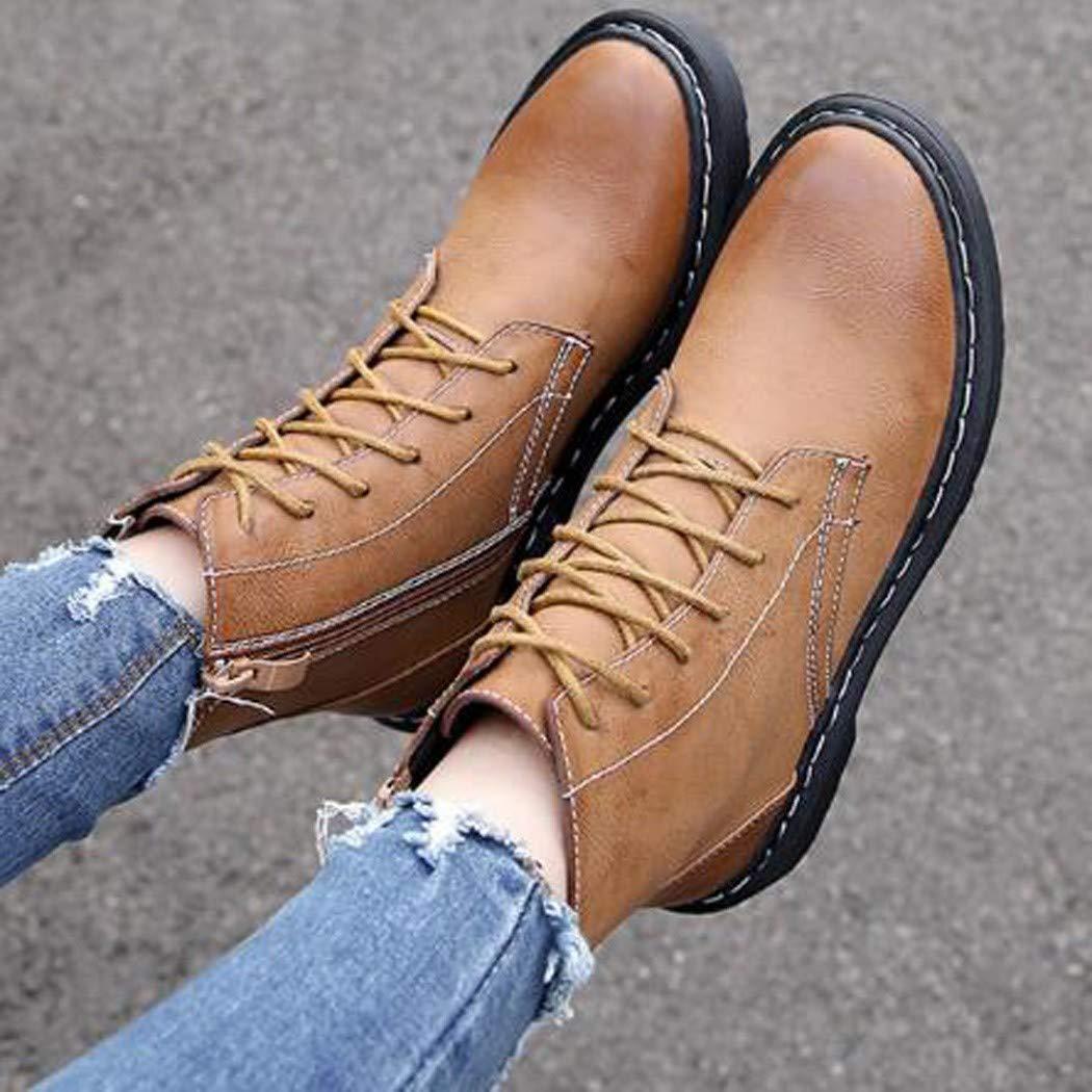 jiang-zx jiang-zx jiang-zx Zapatos de Mujer, Viento británico con Botas, Salvaje, con Zapatos Gruesos de Mujer 925dc9