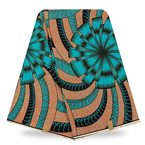 Popular design veritable wax hollandais guaranteed dutch super wax hollandais african wax prints fabric 6yards (aqua)