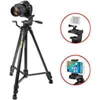 Tripod iKross 61-inch Professional DSLR Camera Light Weight Aluminum Tripod with Universal Smartphone Mount Adapters and Carry Bag for Canon, Nikon, Sony, Samsung, Olympus, Panasonic, Gopro, iPhone