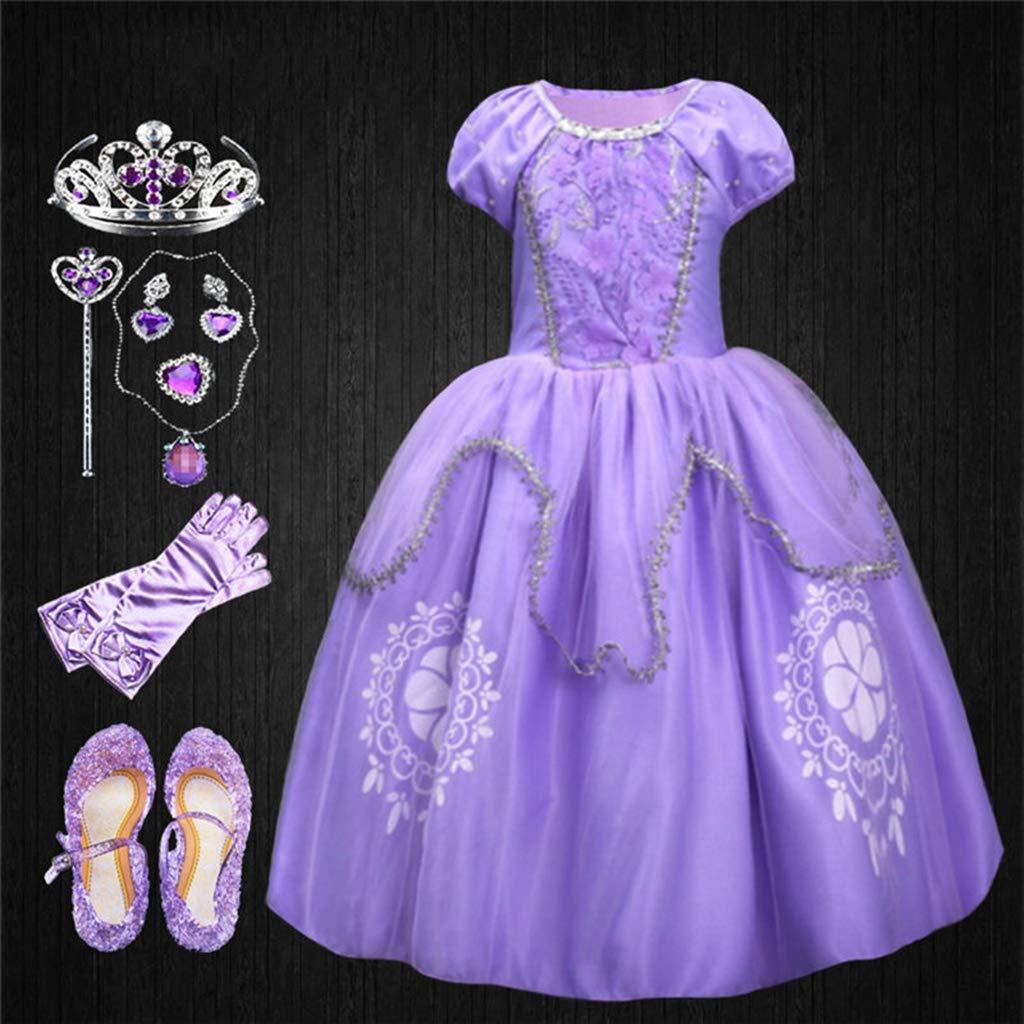 DMMDHR Halloween Niños Niñas Princesa Sofía Vestido Rapunzel ...