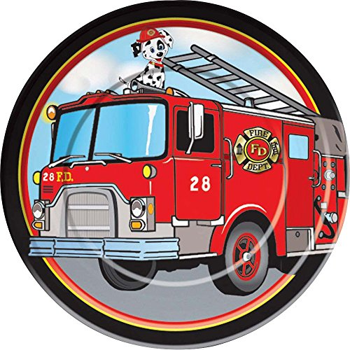 Forum Novelties Firefighter Luncheon Plates (8 Pack) - Firefighter Luncheon Plate