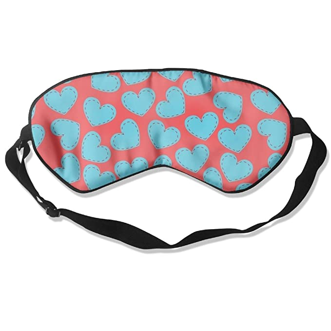 d74aef21bf6 Amazon.com  Lnrd Hearts Pattern Soft Silk Travel Eye Cover Adjustable  Flights Sleep Mask  Clothing