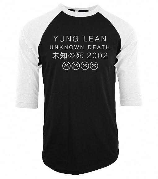 funny YUNG LEAN UNKNOWN DEATH Sad Boys T-shirts NEW Men Cotton raglan three-