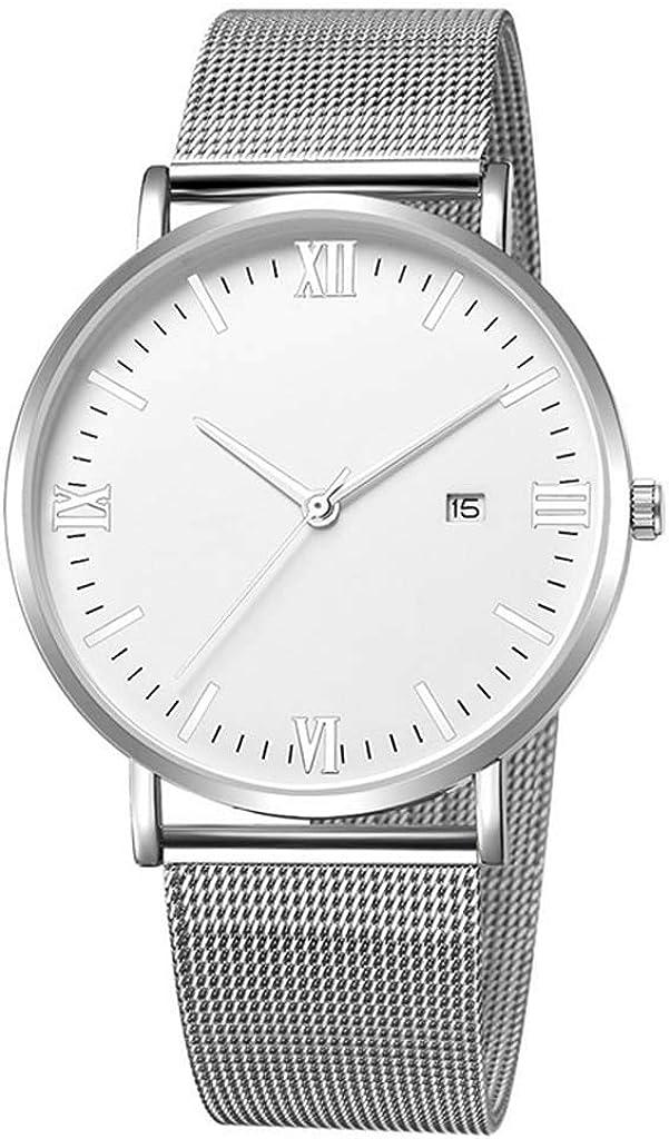 POJIETT Reloj Hombre Chico Joven Deportivo Reloj de Pulsera Negro/Dorado Reloj de Cuarzo Japonés con Calendario Correa de Acero Inoxidable Reloj Quartz Analogico Sport Wrist Watch Men