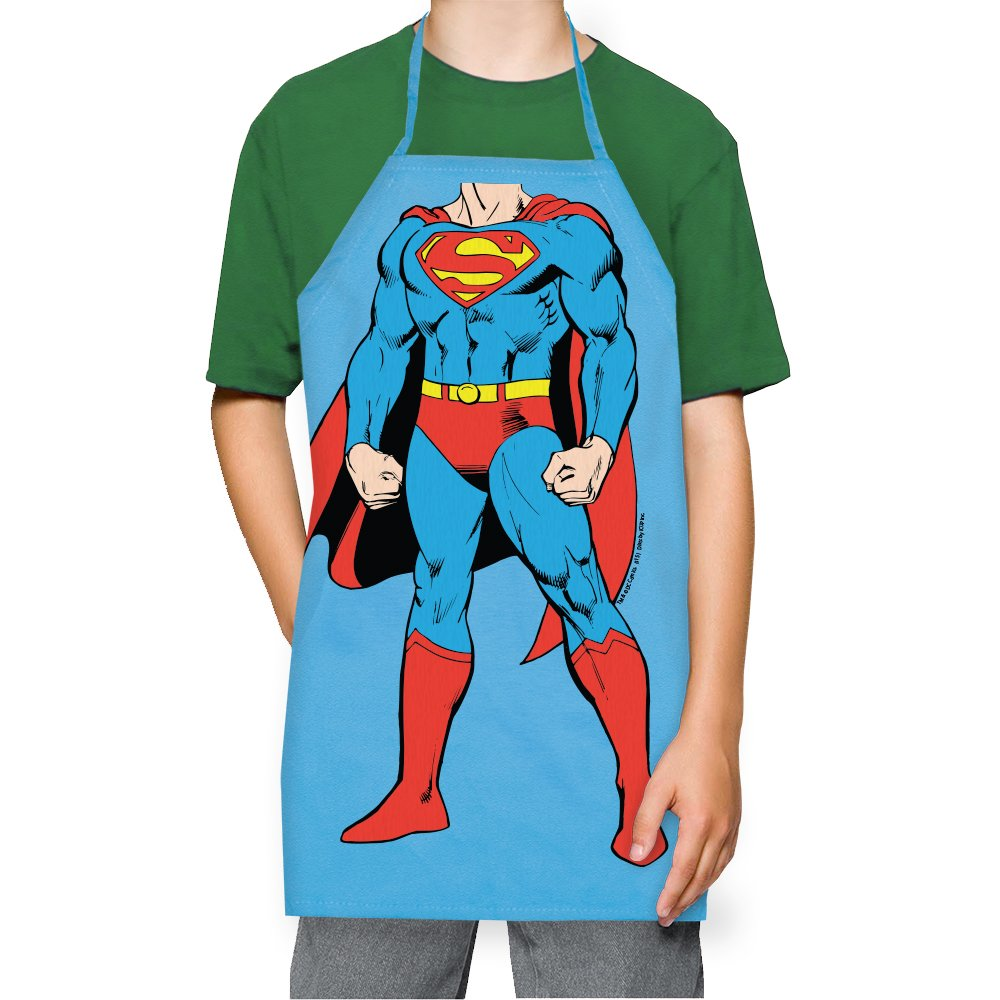 ICUP DC Comics - Superman, The Man Of Steel Be The Character Kids 100% Cotton Light Blue Apron