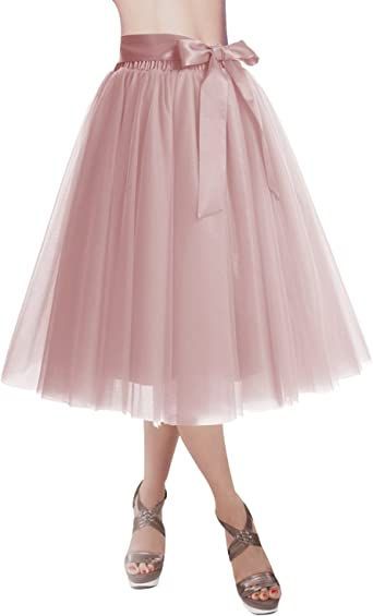 DRESSTELLS® Falda de tutú para mujer, falda de tul hasta la ...
