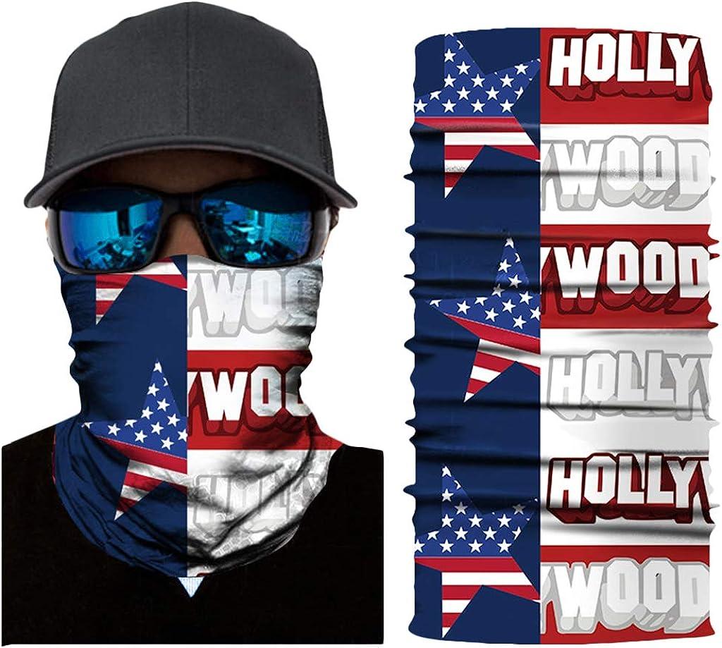 Nahtlose Multifunktionstuch Herren Sport Bandanas Schal LOOVEE Kopftuch USA Flagge UV Face Shield Flagge Winddicht Motorrad Snowboarden Sch/ädel Halstuch Funktionstuch
