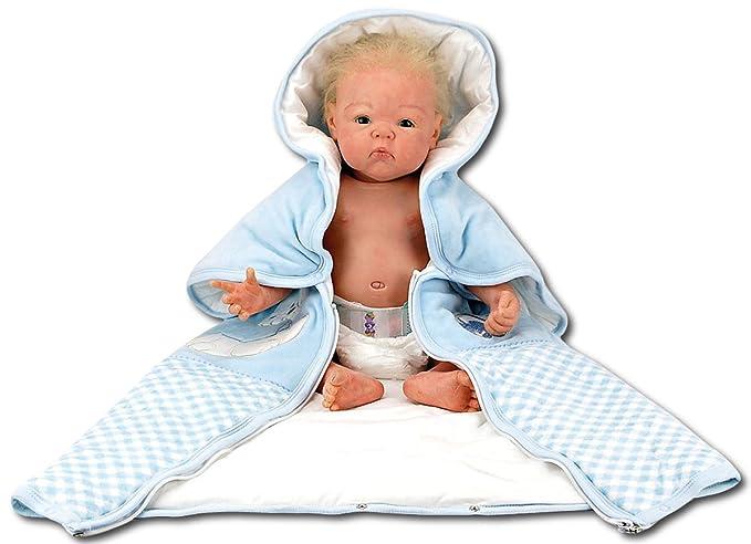 Baby - Manta//saco/saco de dormir/Gateo/erstling Manta Manta de algodón 771bamv azul azul Talla:80 x 85: Amazon.es: Bebé
