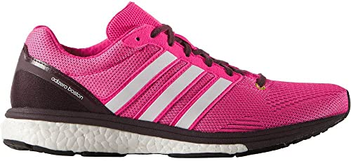 info for 6b46a 3a7d7 adidas Womens Adizero Boston Boost 5 TSF Running Shoes, Mineral RedShock  Pink