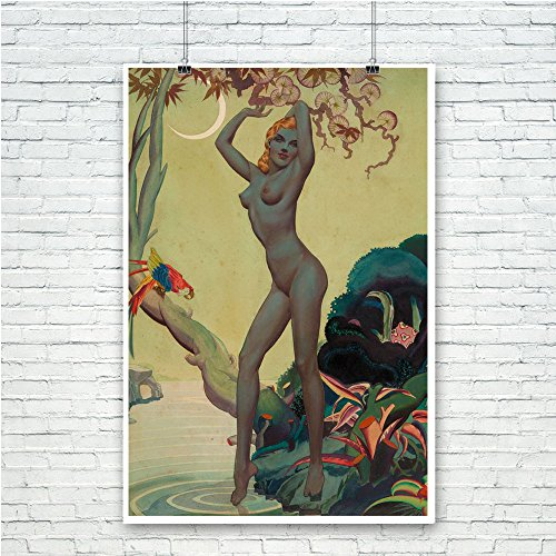 Pixy Ink Vintage Pin-Up Poster Print Jungle Vargas Girl - by Alberto Vargas
