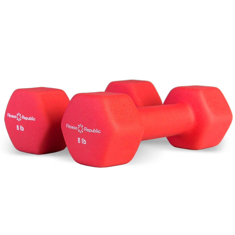 Fitness Republic Neoprene Dumbbells 8 lbs Set