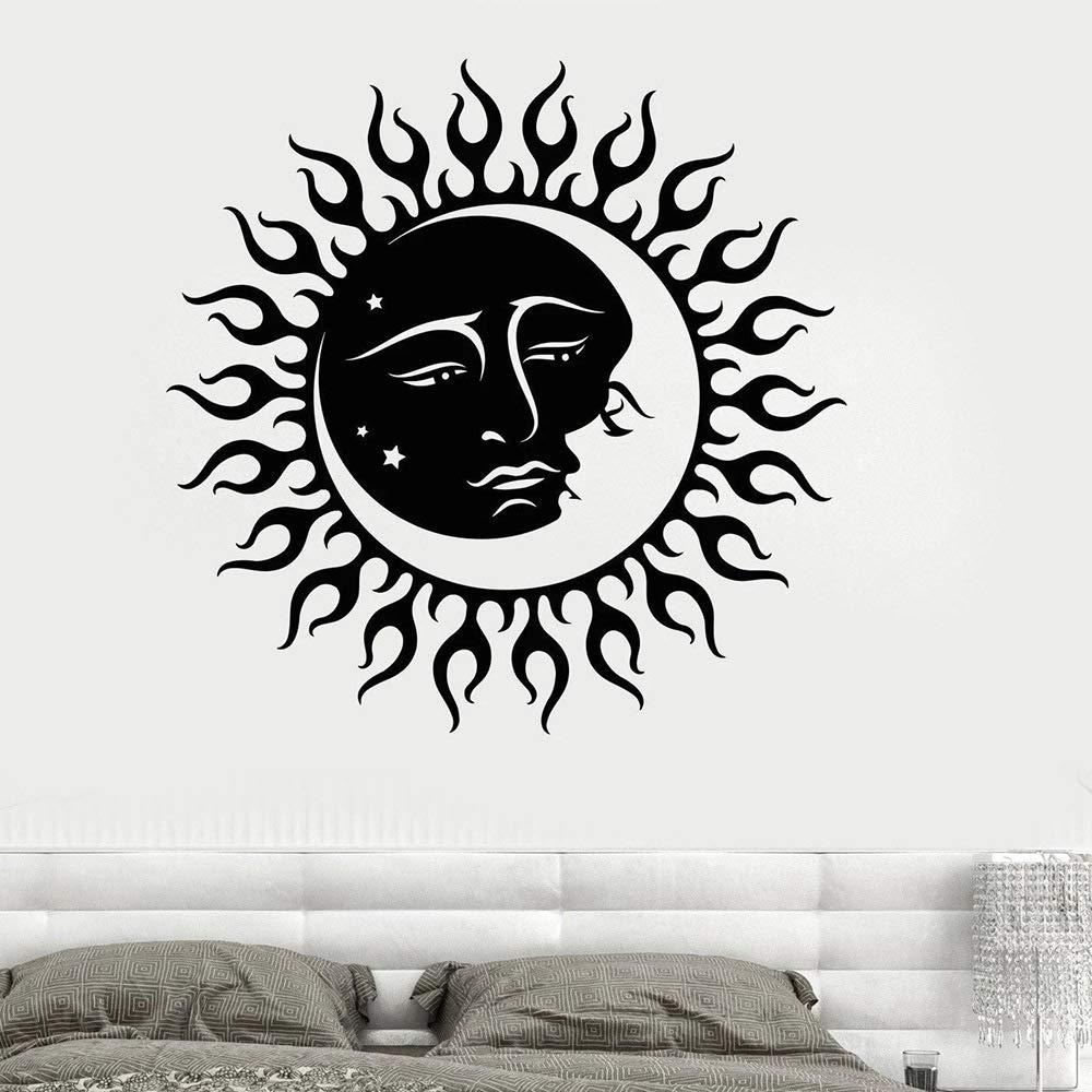 BFMBCH Sun and Moon Star Vinilo Tatuajes de pared Sala de estar ...