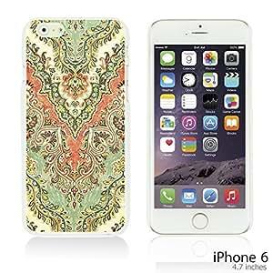 OnlineBestDigital - Flower Pattern Hardback Case for Apple iPhone 6 (4.7 inch)Smartphone - Retro Floral Pattern
