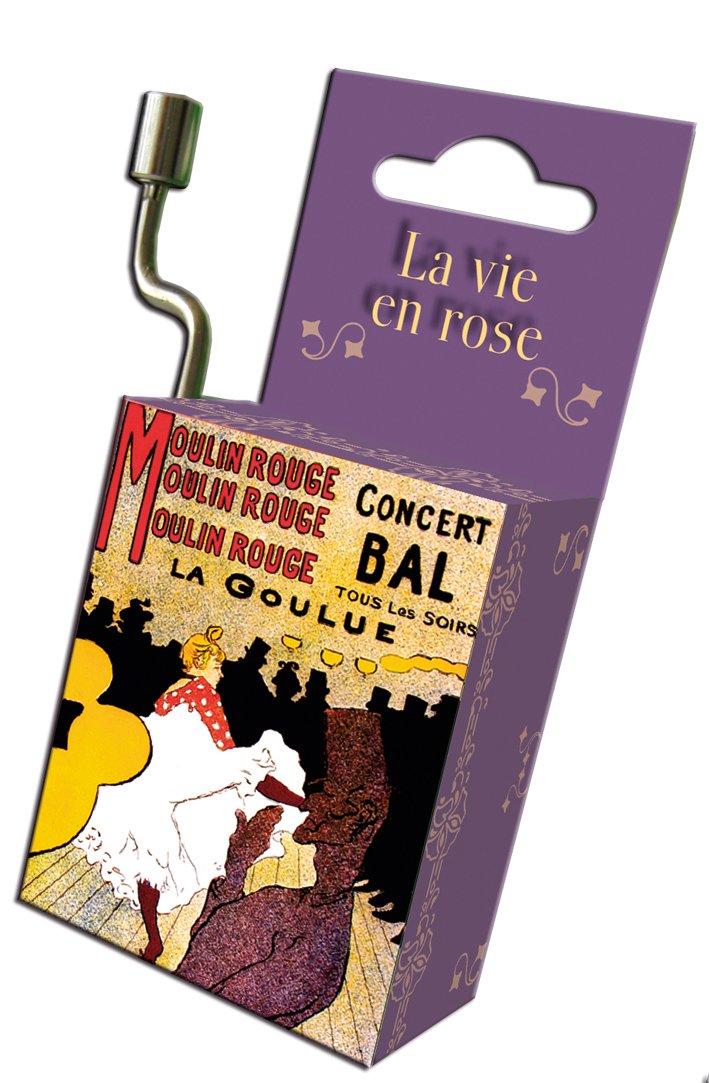 Fridolin 59425 'La Vie En Rose/Art Nouveau La Goulue Music Box