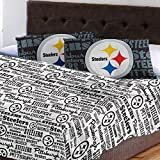 4pc NFL Pittsburgh Steelers Full Sheet Set Football Team Anthem Bedding Accessories