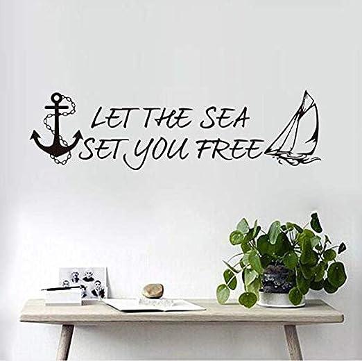 Etiqueta De La Pared Let The Sea You Free Anchor Etiqueta De La ...