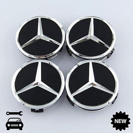 4 tapacubos AMG para Mercedes-Benz Negro Mate, Estrella Tapa ...