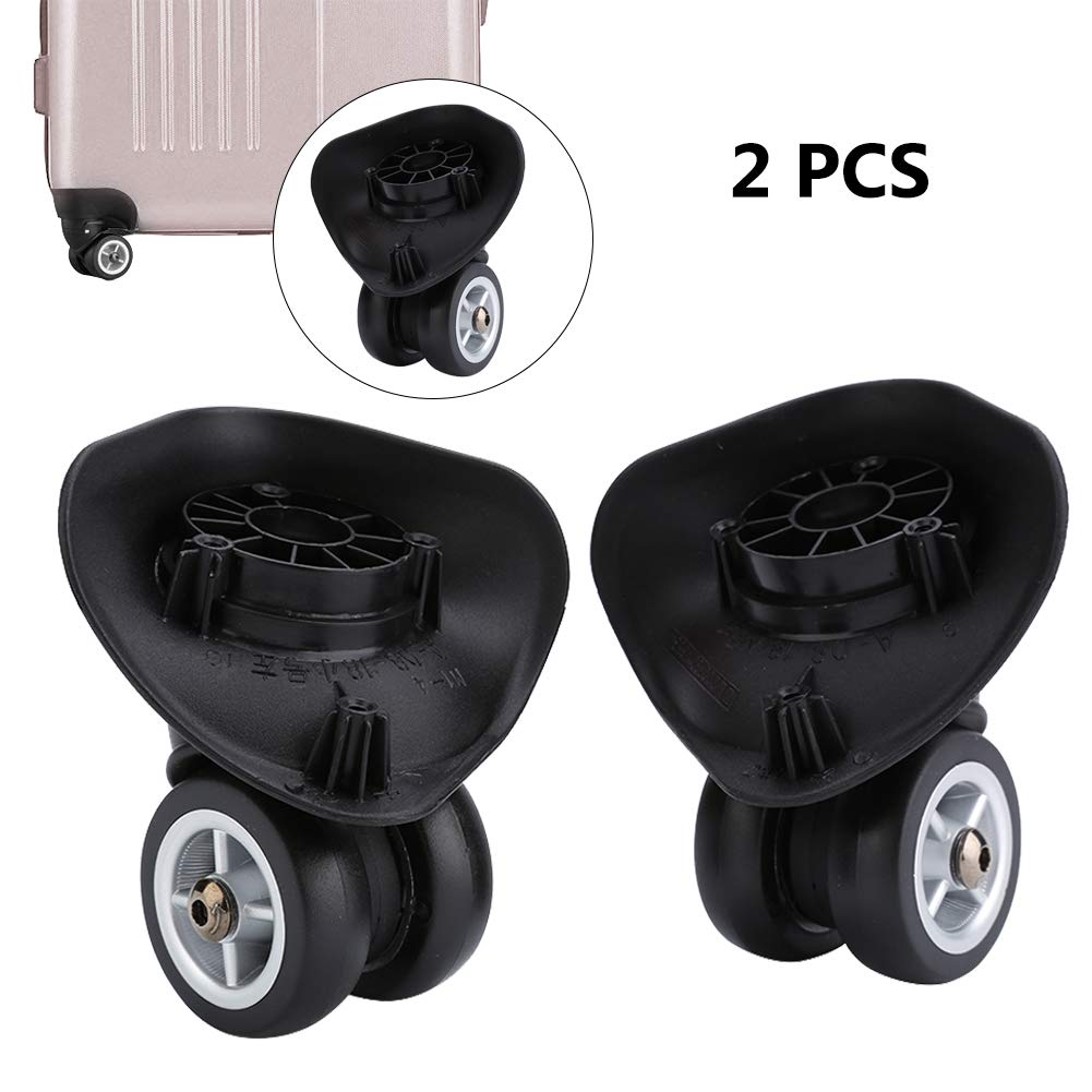 ccb287c6e97c Dilwe 1 Pair Suitcase Wheels PVC Luggage Replacement Wheels for Travel  Suitcase Accessory (W042 S)