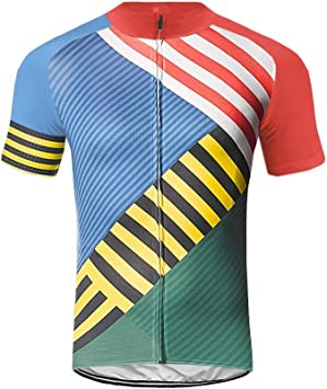 2019 Mens Cycling Jersey Bicycle Shirt Breathable short sleeve Top Bike Clothing