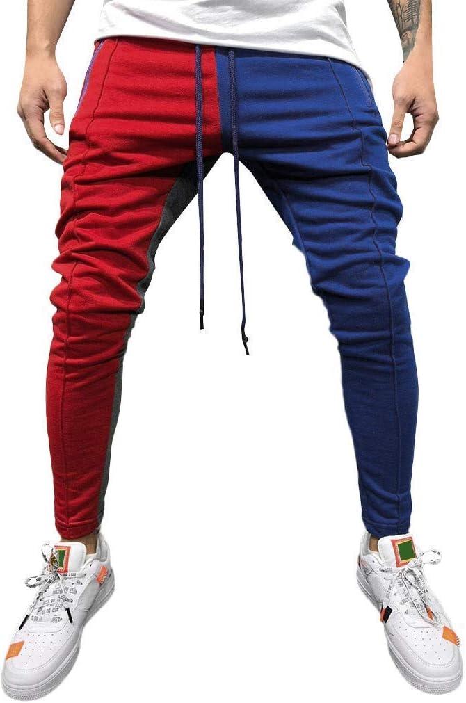 Pantalones Hombre Chandal Militar Moda 2020 Pantalones de chándal de Color Patchwork Sueltos para Hombre Pantalon de Lazo Joggers Pantalón de Trabajo Elasticos ✿Hanyixue