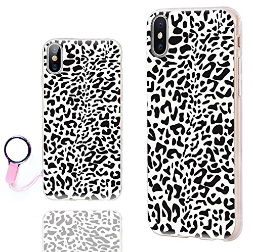 - iPhone Xs Case Cute,iPhone X Case Cool,iPhone 10 Case,ChiChiC Ultra Thin Slim Flexible Soft TPU Clear Case Cover with Design for Apple iPhone Xs X 10, Black White Animal Skin Leopard Print