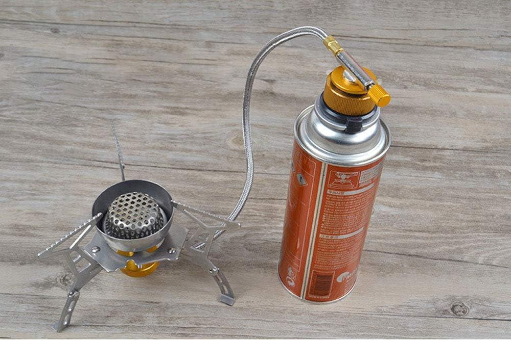 Naranja SUNFUA 2 Apagado Autom/ático Adaptador de la Estufa de Gas Camping Adaptador para Botella Gas Hornilla Estufa de Camping al Aire Libre