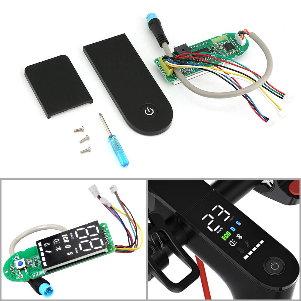 Upgradable Display Panel Original Circuit Board Dashboard for Xiaomi Mijia M365 with Digital Display Accessories Electric Scooter Replacement with Clear Screen Cover (M365 Circuit Board)