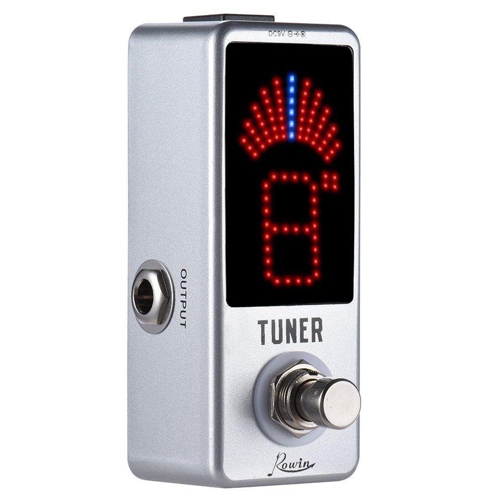 Rowin Tuner Pédale de Syntoniseur Chromatique de Guitare électrique ± 0, 1 cent True Bypass