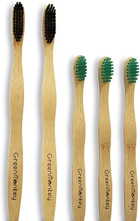Niños infantiles cepillo de dientes de bambú-natural orgánica de ...