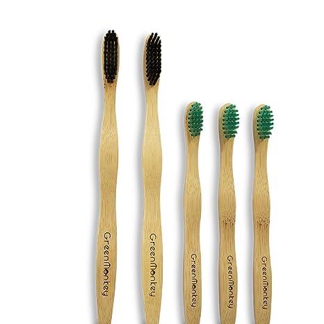 Niños infantiles cepillo de dientes de bambú-natural orgánica de madera ecológica amigable 100%