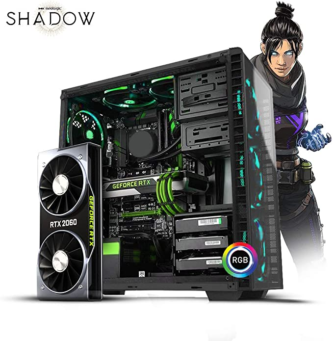 Desktop Neologic Shadow I Nli81153 I5-9400f 2.90ghz 8gb 1tb Geforce Rtx2060 Windows 10 Pro Sem Monitor