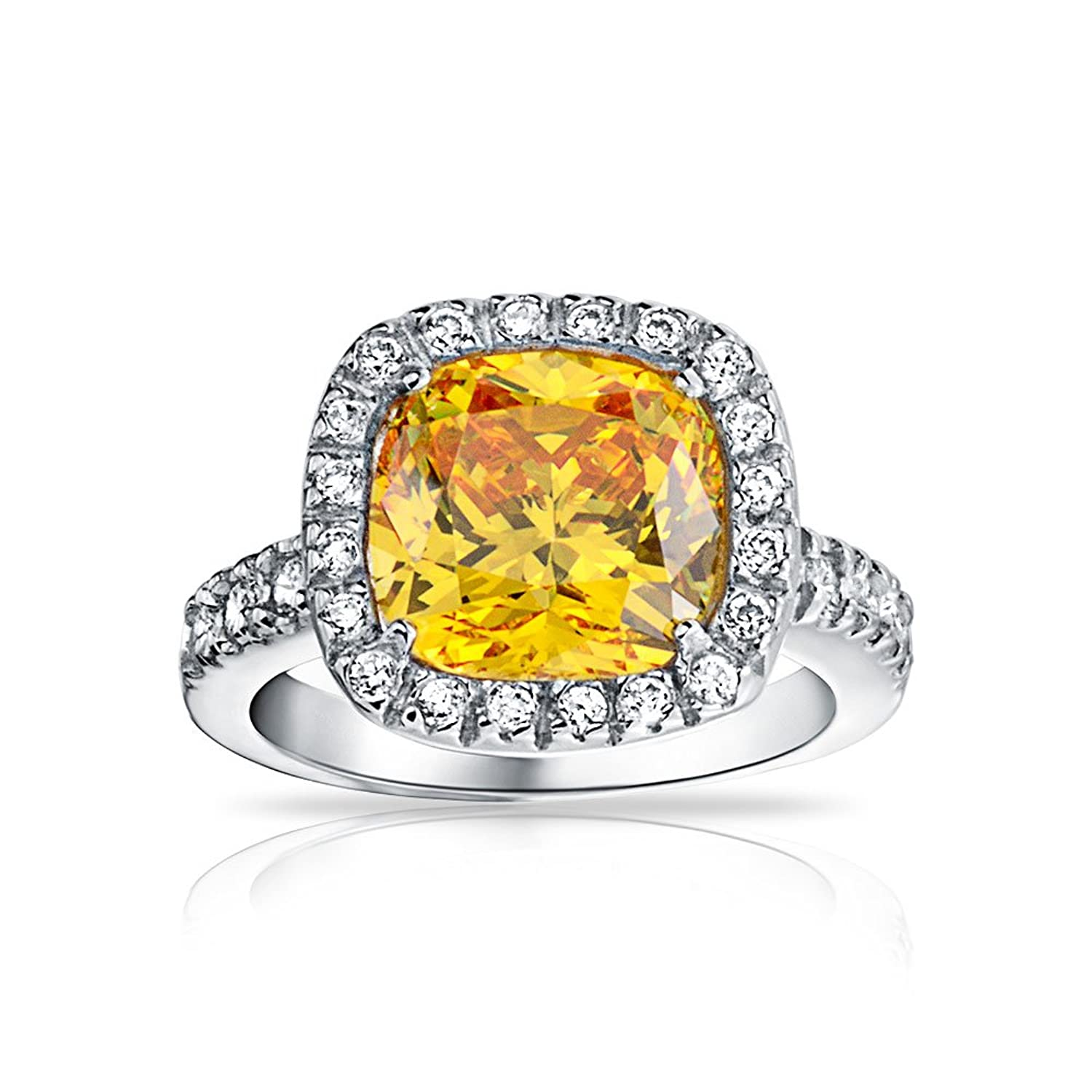 Amazon Bling Jewelry 925 Silver 3ct Simulated Citrine CZ